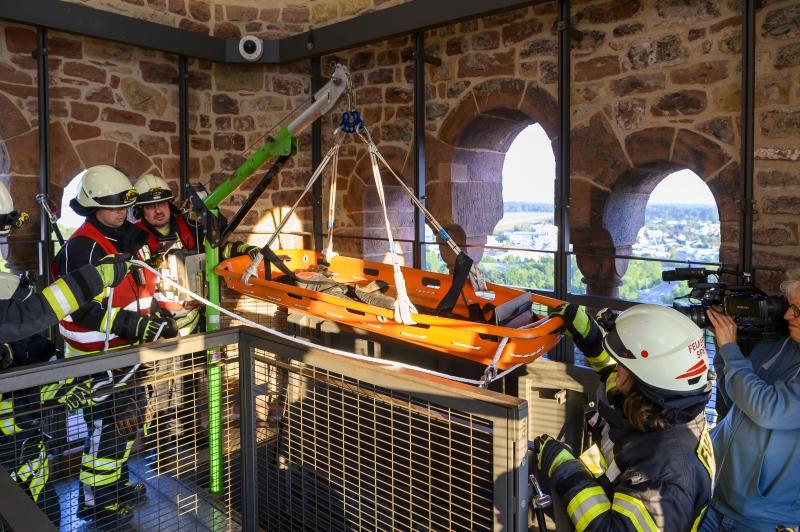 Rettungsübung Kaiserdom Speyer